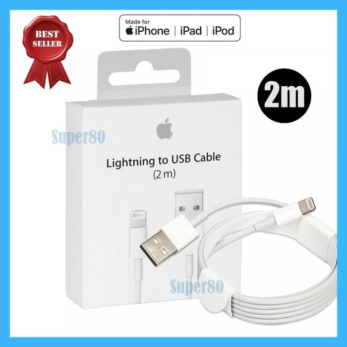 Foto Produk Lightning Cable 2M Original iPhone iPad Ori Apple Kabel Charger Sync dari Super80