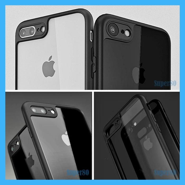 Foto Produk Case Acrylic iPhone X 7 8 Plus Slim Casing Transparan Soft Hard Hybrid - X atau XS dari Super80