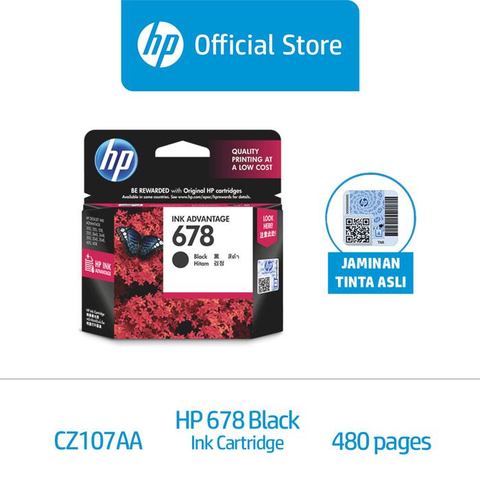 Foto Produk HP 678 Black Original Ink Advantage Cartridge (CZ107AA) dari HP Official
