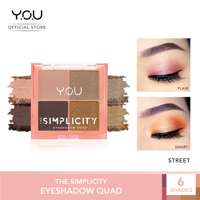 Foto Produk The Simplicity Eyeshadow Quad by You Makeups - 03 Street dari YOU Makeups Official