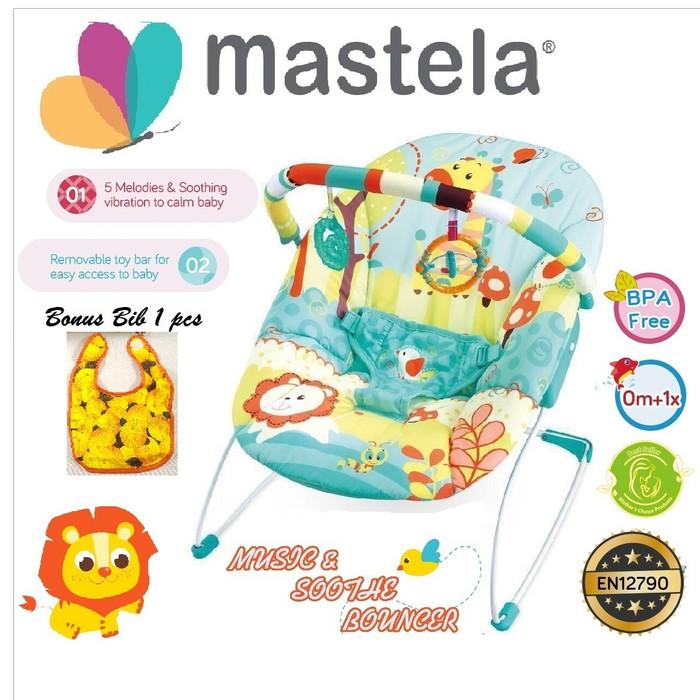 Foto Produk MASTELA Baby Bouncer 1 Recline BLUE- GIRAFFE - 6703 dari Mastela Official