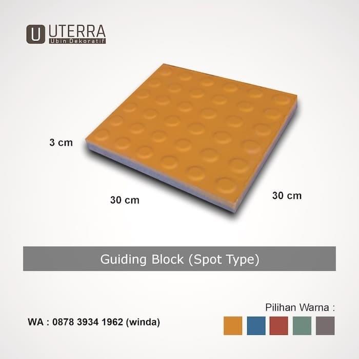 Foto Produk Ubin Disabilitas / Pemandu - Guiding Block - Spot Type - Tebal 3cm dari Stone Depot