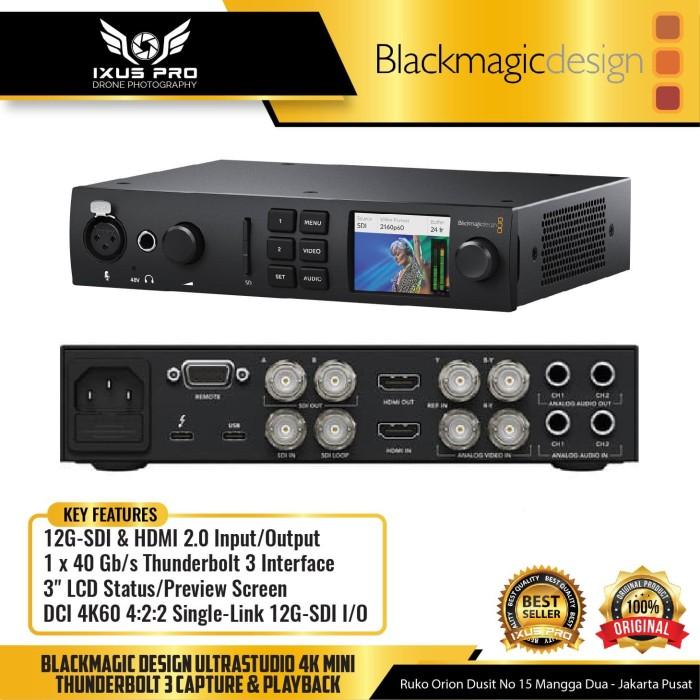 Jual Blackmagic Design Ultrastudio 4k Mini Thunderbolt 3 Capture Playback Jakarta Pusat Ixuspro Tokopedia