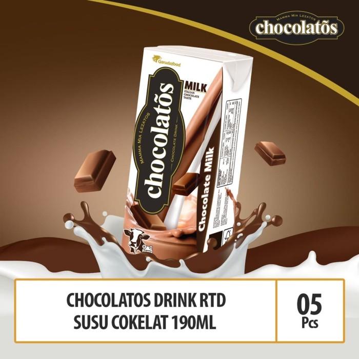 Foto Produk Chocolatos Drink RTD Chocolate Milk - 190 ml x 5 Pcs dari GarudaFood