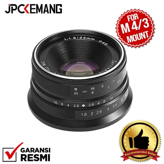 Foto Produk 7Artisans 25mm f1.8 for Panasonic Olympus MFT 25mm f/1.8 GARANSI RESMI dari JPCKemang