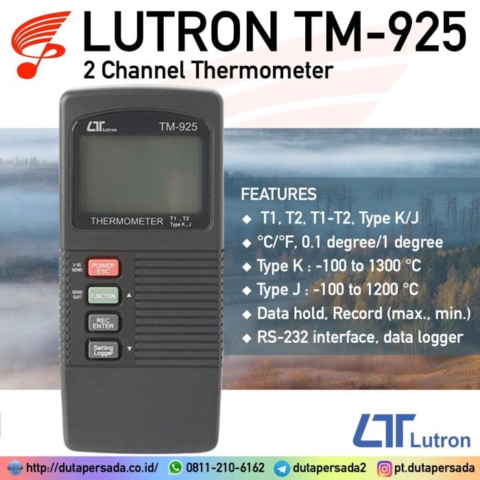 Foto Produk Lutron TM-925 Two Channel Thermometer - NON GARANSI dari DUTA PERSADA Instruments