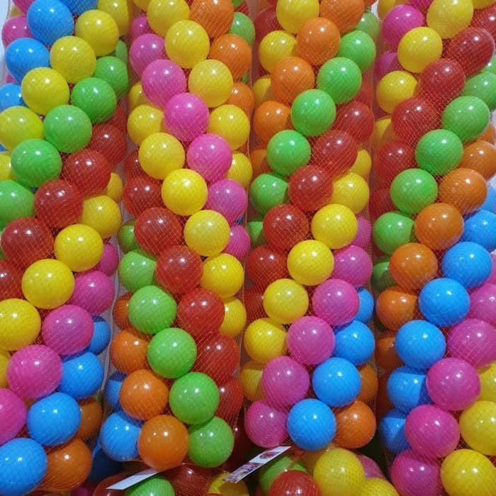 Foto Produk Mandi Bola isi 100 pcs / Mandi Bola Anak / Mainan Bola Anak dari TosqaStore