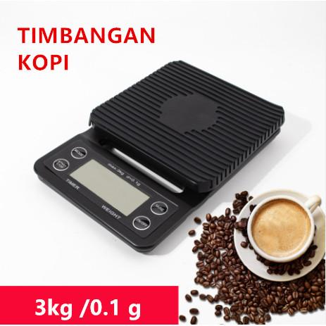 Foto Produk Timbangan Kopi Digital 3KG / 0.1GR Timer V60 Drip Coffee Scale dari Yuan Mart