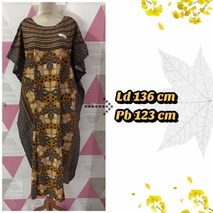 Foto Produk Daster/Longdress Kelelawar Jumbo HAP Motif Sogan Hitam dari Batik mbak siti