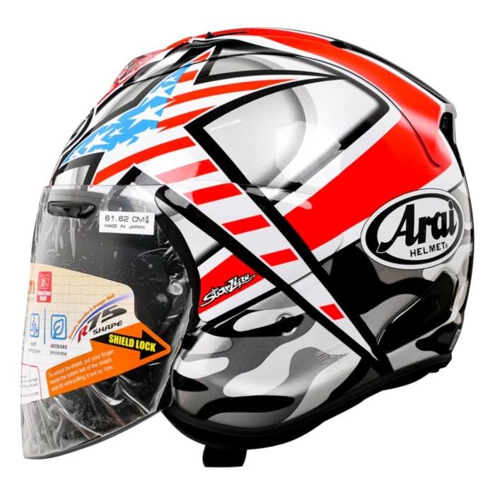Foto Produk Arai VZ-RAM Hayden Laguna Helm Half Face - Red - XL dari Arai Indonesia