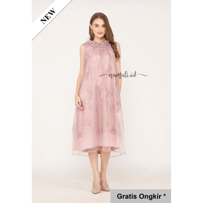 Jual Camilia Dress Party Gaun Pesta Brukat Premium Rose Gold S Kota Depok Namali Id Tokopedia