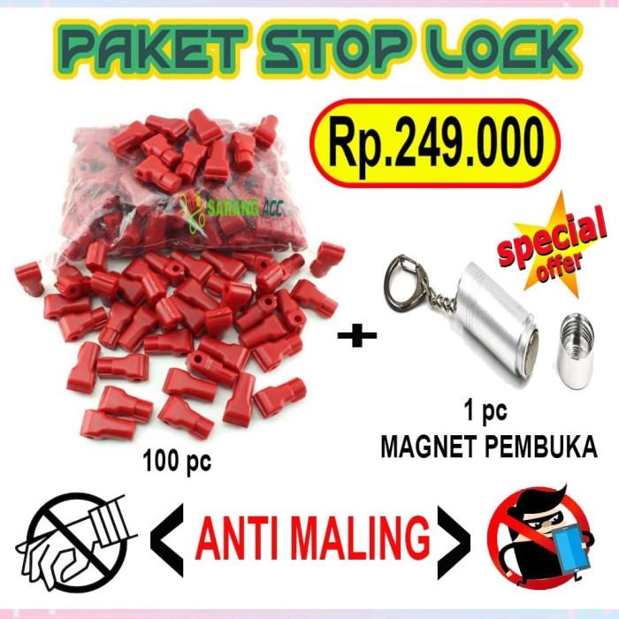 Foto Produk PAKET STOP LOCK SECURITY DISPLAY / KUNCI RAM MAGNET / PENGUNCI RAK dari SARANG ACC shop
