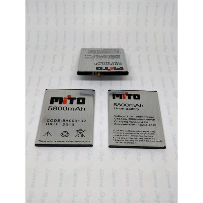 Foto Produk batre baterai batrai mito a990 mito a880 mito a82 plus ba000132 dari Liuwen shop