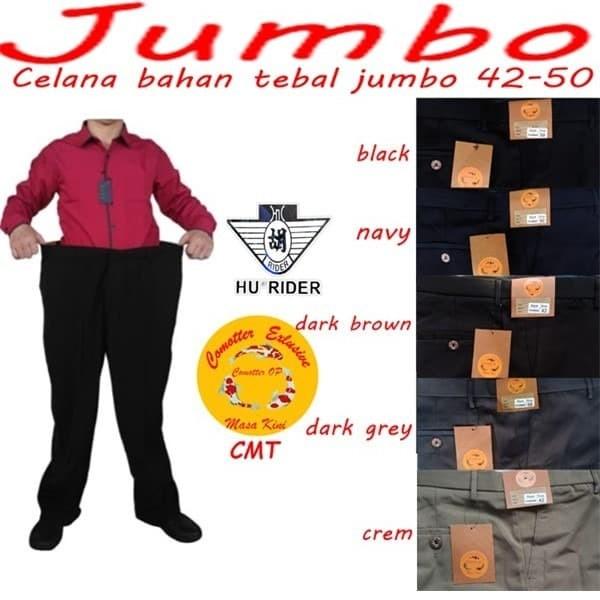 Foto Produk Celana Bahan Pria Panjang Jumbo formal kantor kerja ukuran 42-50 dari kokke masa kini