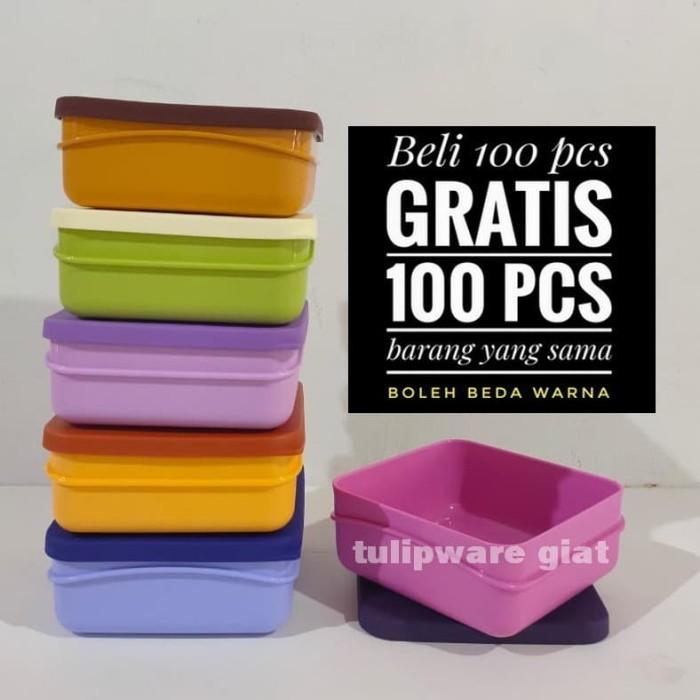 Foto Produk Wadah Bekal Kotak Makan / Medium box Twin Tulipware dari TULIPWARE collection