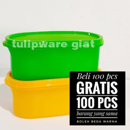 Foto Produk Toples Bright series / Wadah Kue Lebaran / Small Oval Storage Tulip 1 dari TULIPWARE collection