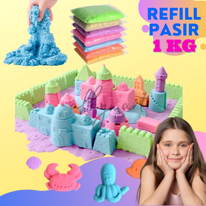 Foto Produk Refill Pasir ajaib mainan pasir castle refill 1 KG - NATURAL dari cabokimurah