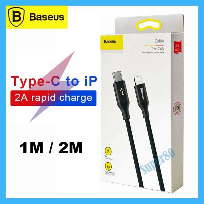 Foto Produk Baseus Type C to Lightning Cable PD 18W Kabel Fast Charge iPhone 1m 2m - Panjang 1m dari Super80