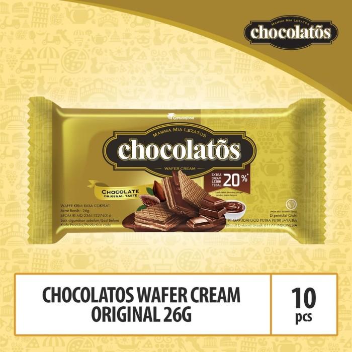 Foto Produk Chocolatos Wafer Cream Original - 26g (WAFO8) By Garudafood dari GarudaFood