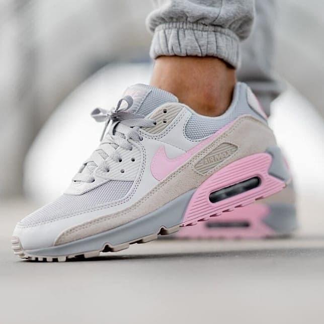 Jual Nike Air Max 90 Grey Pink Women Shoes Jakarta Selatan Ipman Sneakers Tokopedia