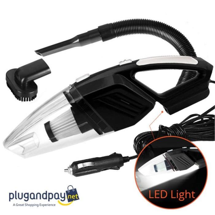 Foto Produk Vacuum Cleaner Penyedot Debu Mobil 120W dengan Lampu LED Light dari plugandpay