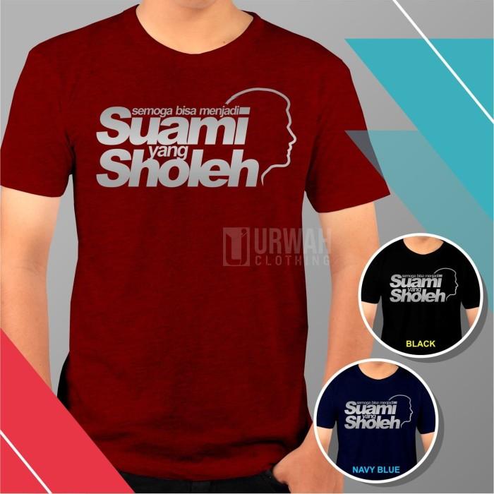 Jual Kaos Baju Dakwah Islami Cotton Bamboo Suami Sholeh Hitam Xl Kab Ciamis Urwah Clothing Tokopedia