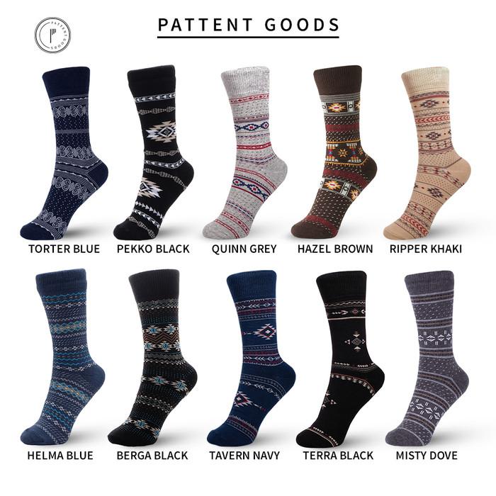 Foto Produk Kaos Kaki Pattent Goods Pria Wanita Pattern Series (Seri Pola) - Dipilih Acak dari Pattent Goods