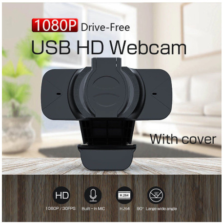 Foto Produk WB91 Webcam High Quality 1080p with Buit in Mic and Privacy Cover dari Cikuleta