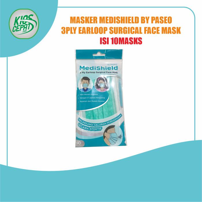 Foto Produk Masker MediShield by PASEO - 3Ply Earloop Surgical Face Mask isi 10pcs dari KiosCepat