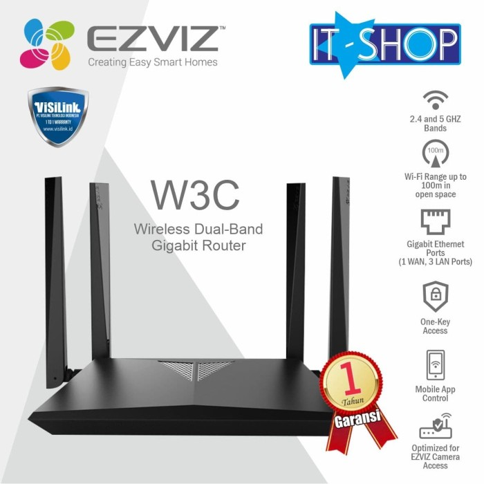 Foto Produk Ezviz W3C Wireless Dual-Band Gigabit Router dari IT-SHOP-ONLINE