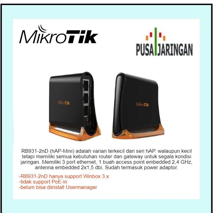 Foto Produk Mikrotik RB931-2nD hAP-Mini Router Wireless dari Pusat Jaringan