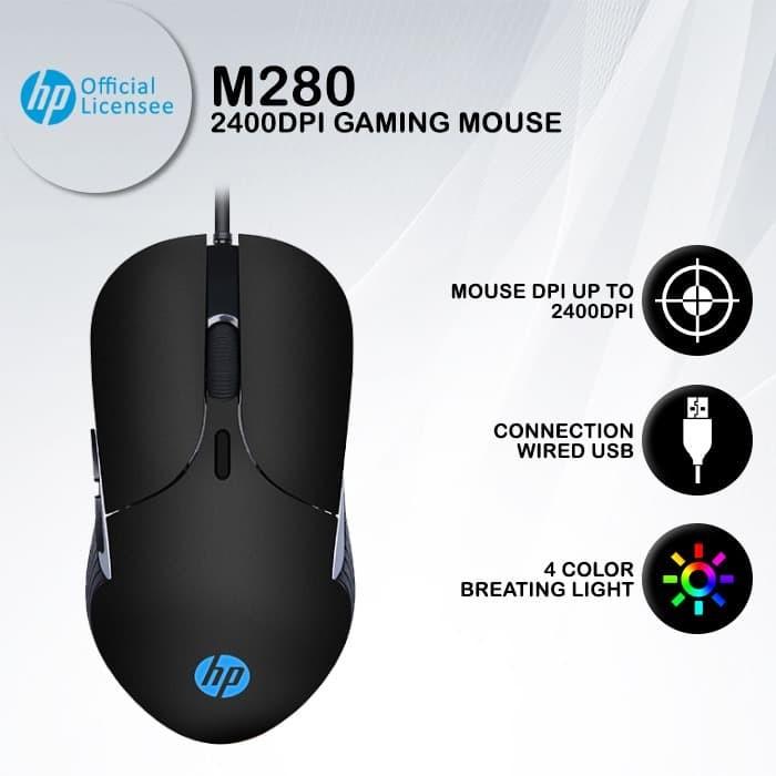 Foto Produk Mouse Gaming HP M280 - 2400DPI RGB Macro Programmable dari HP Gaming Official