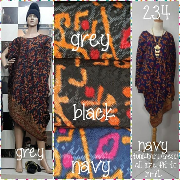 Foto Produk Tunik (mini dress) batik dolby(adem.tebal.lembut)all size fit to m-7L dari Winnie Collection