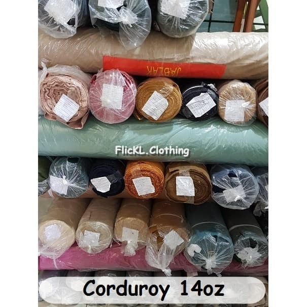 Jual Bahan Kain Jeans Denim Rollan Corduroy Tebal Cotton ...