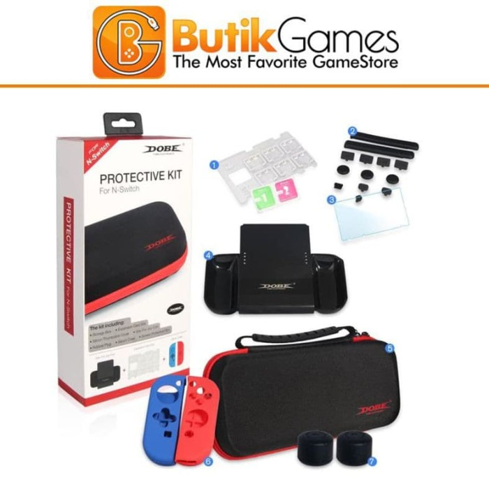 Foto Produk Tas DOBE Protective Kit Storage Bag Travel Case Nintendo Switch dari Butikgames