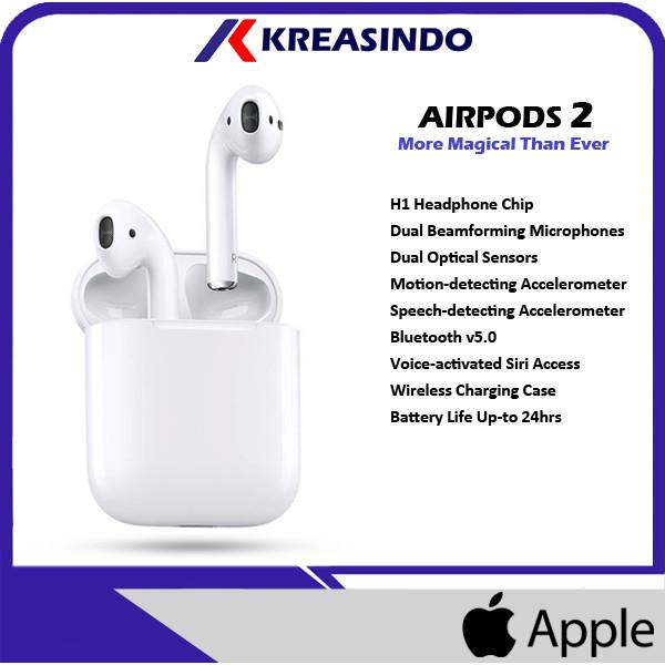 Foto Produk Apple AirPods 2 ( 2nd Gen ) With Charging Case Garansi Resmi dari Kreasindo Online