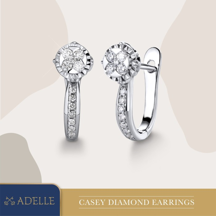Foto Produk Casey Diamond Earrings - Anting Berlian - Adelle Jewellery - White Gold dari Adelle Jewellery