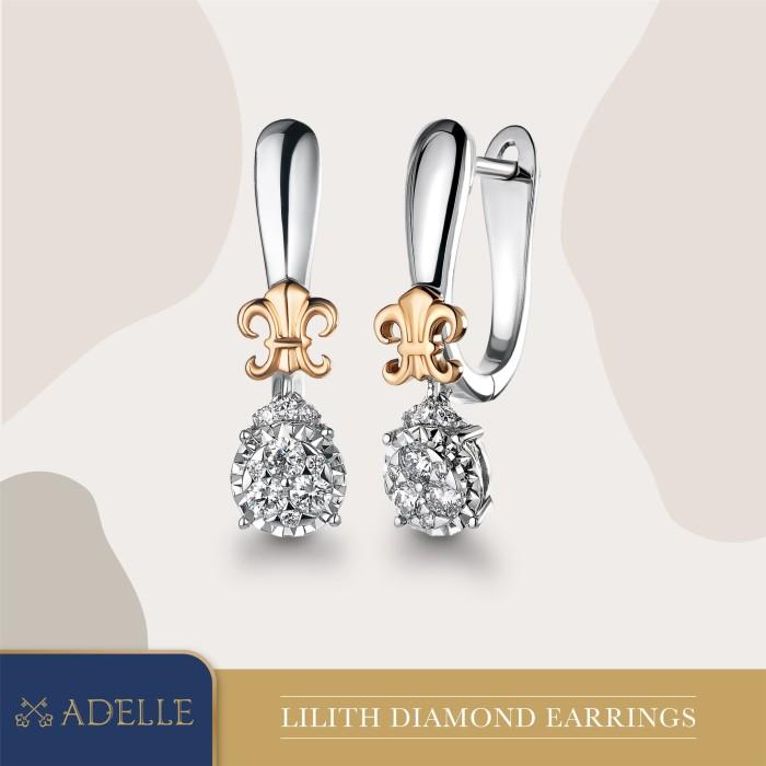 Foto Produk Lilith Diamond Earring - Anting Berlian - Adelle Jewellery - Twotone dari Adelle Jewellery