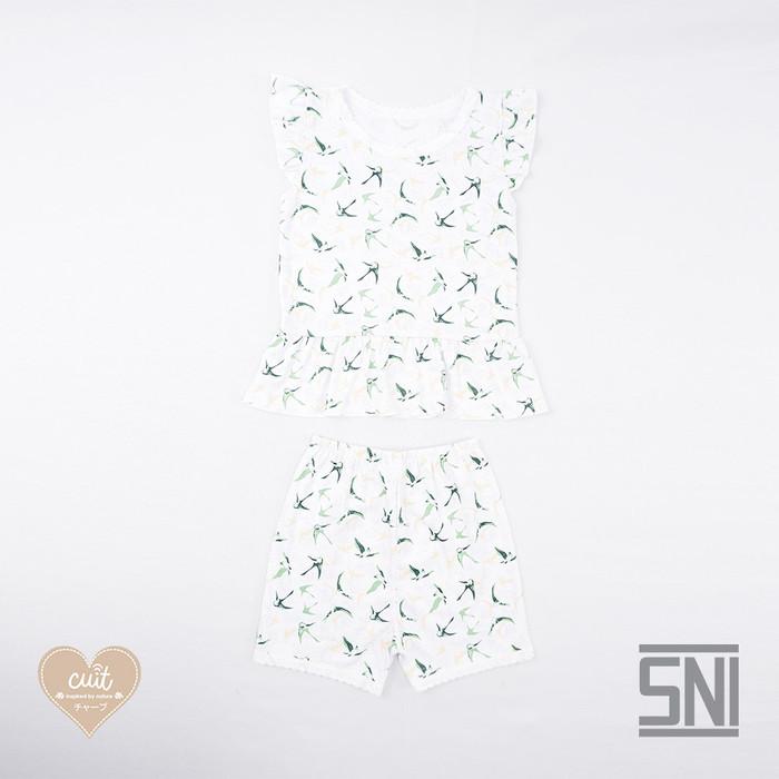 Foto Produk CUIT Setelan Ruffle Kutung ANAK TAKA Series - GREEN, S dari Cuit Baby Wear