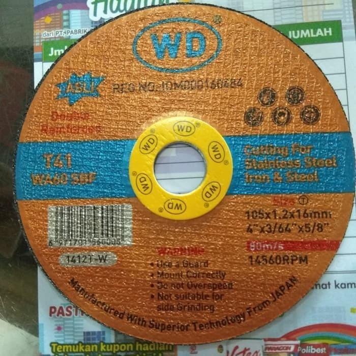 """Foto Produk Batu Potong Gerinda Asli Original WD 4"""" Murah⠀ dari INFINITY 173"""
