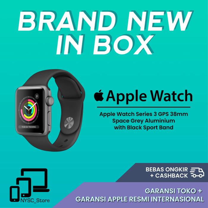 Foto Produk Apple Watch Series 3 GPS 38mm Space Grey Alum with Black Sport Band dari Nysc