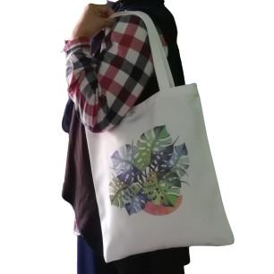 Foto Produk tas tote bag canvas monstera dari KamehaShop.com