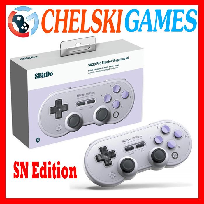 Foto Produk 8bitdo SN30 Pro Bluetooth Gamepad SN Edition Switch Windows Android - SN30 PRO dari Chelski Games
