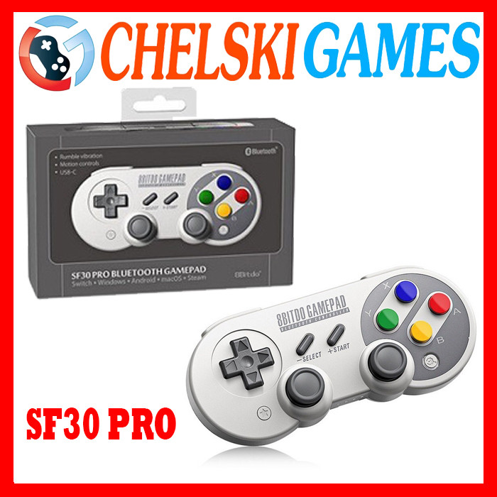 Foto Produk 8Bitdo SF30 Pro wireless Bluetooth Gamepad for Switch/Android/PC/ios - SF30 PRO dari Chelski Games