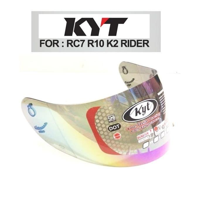 Foto Produk Kaca Helm Original KYT RC Seven / R-10 / K2 Rider Warna Pelangi dari saungmotor