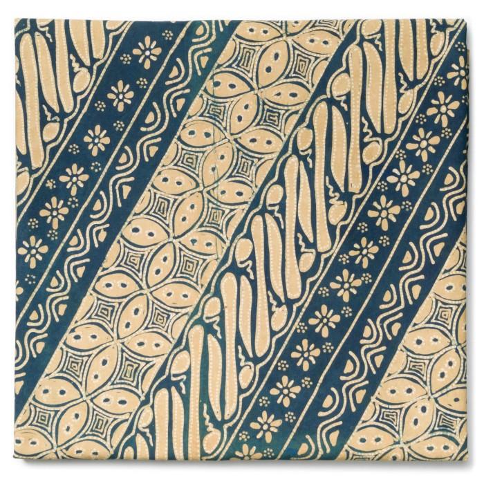 Foto Produk Kain Batik Tulis Warna Alam Indigo Tegeran Motif Parang Kawung Truntum dari Kainusa