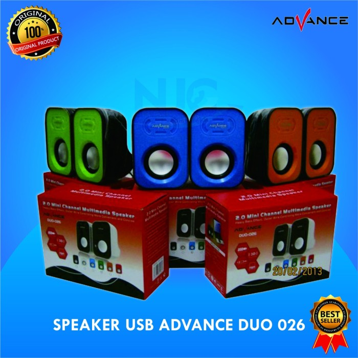 Jual Speaker Usb Advance Duo 026 Kota Surabaya Naga Jaya Tokopedia