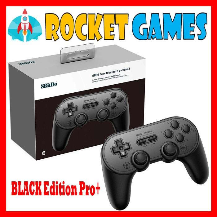 Foto Produk 8bitdo SN30 Pro+ Bluetooth Gamepad Switch Windows Android Black Editio - BLACK EDITION dari Rocket games