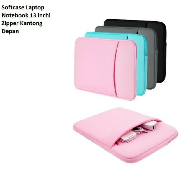 Foto Produk Sale Murah Tas Softcase Laptop Notebook 13 inchi Zipper Polos Grey dari Candy Mandy