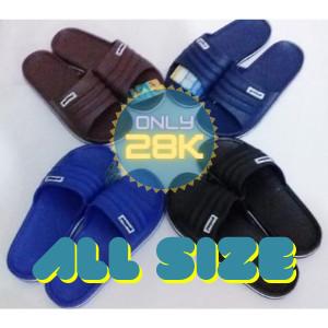 Foto Produk Sandal slop karet pria - Biru, 39 dari Fahry 307shop